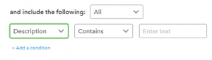 Setting up rules in QuickBooks Online