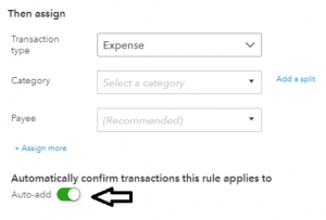 Automatically confirm transactions in QuickBooks Online